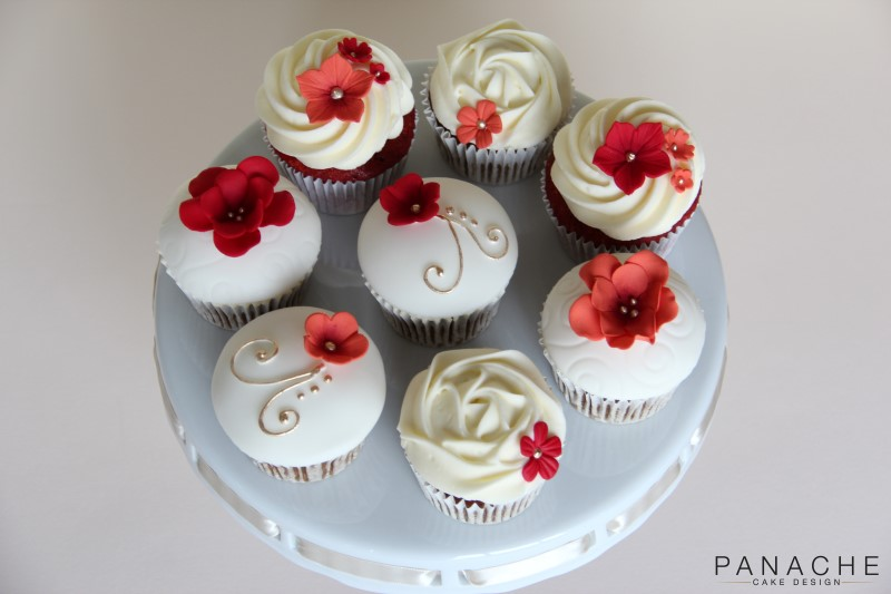 Favours - Orange and Red Cupcakes - with logo