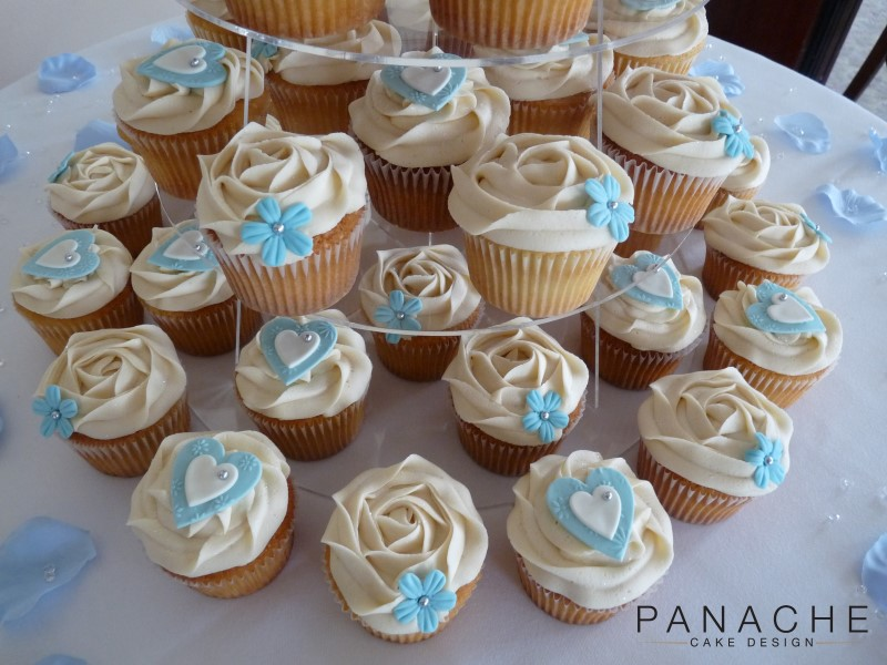 Favours - Pale Blue Cupcakes - with logo