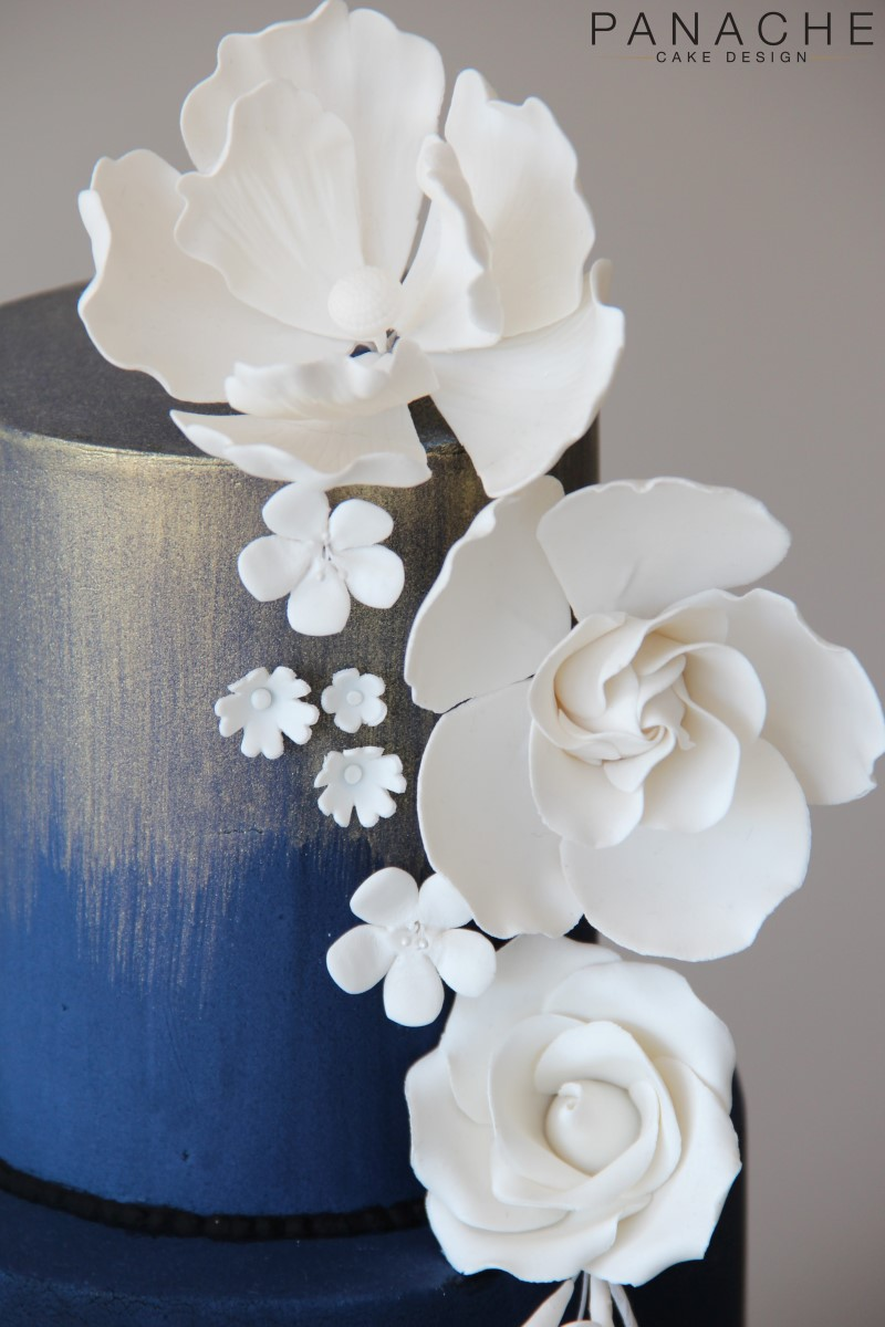 Gallery - Blue and Gold White Flowers 2