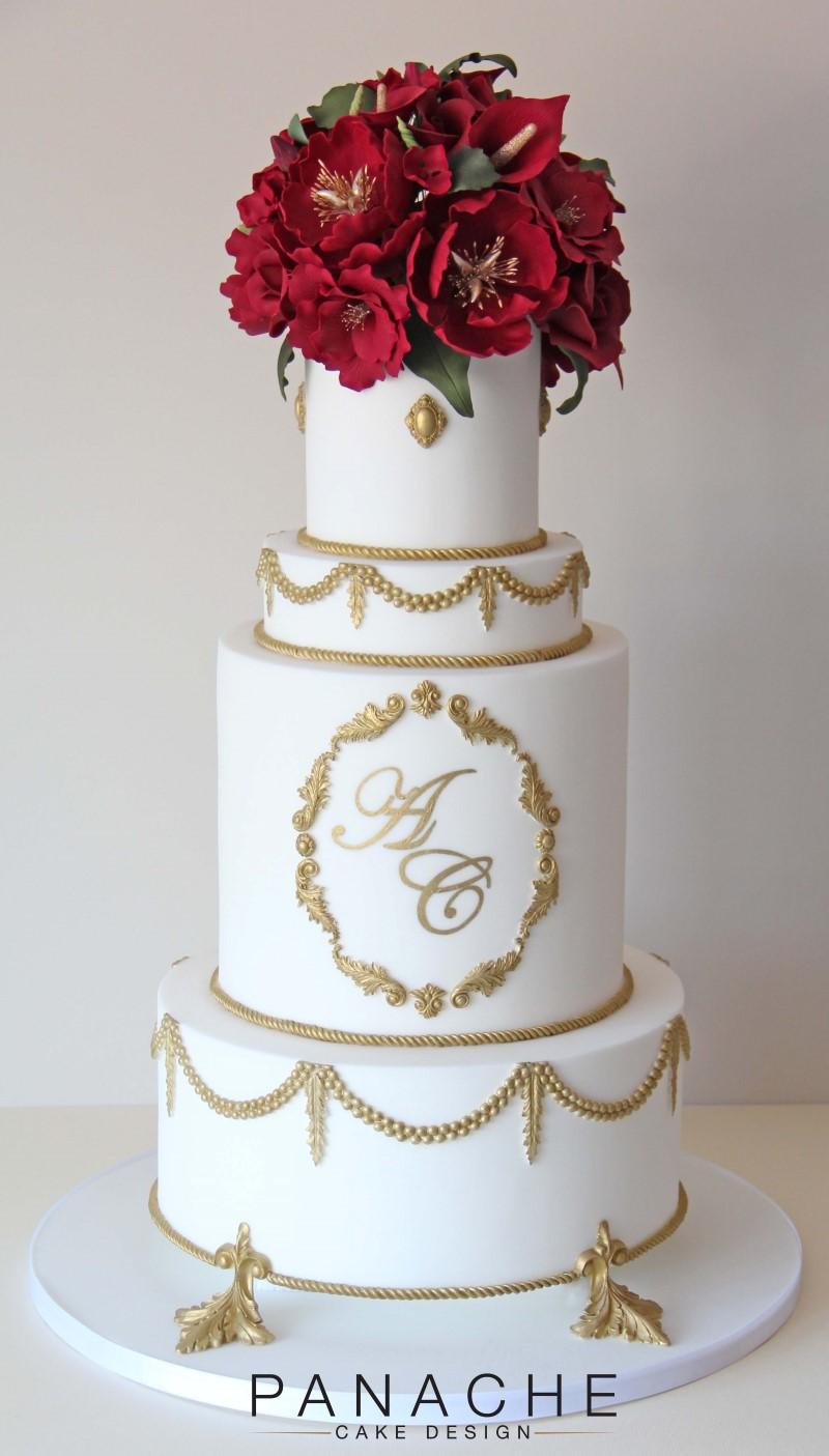 London Naked Wedding Cake