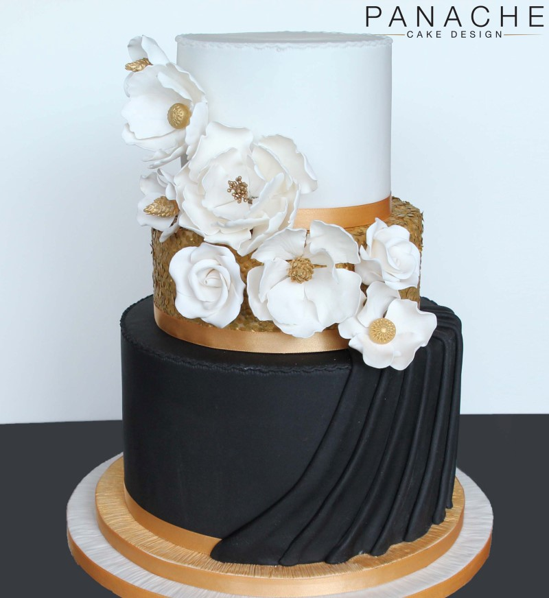 Wedding Cakes Gray And Yellow