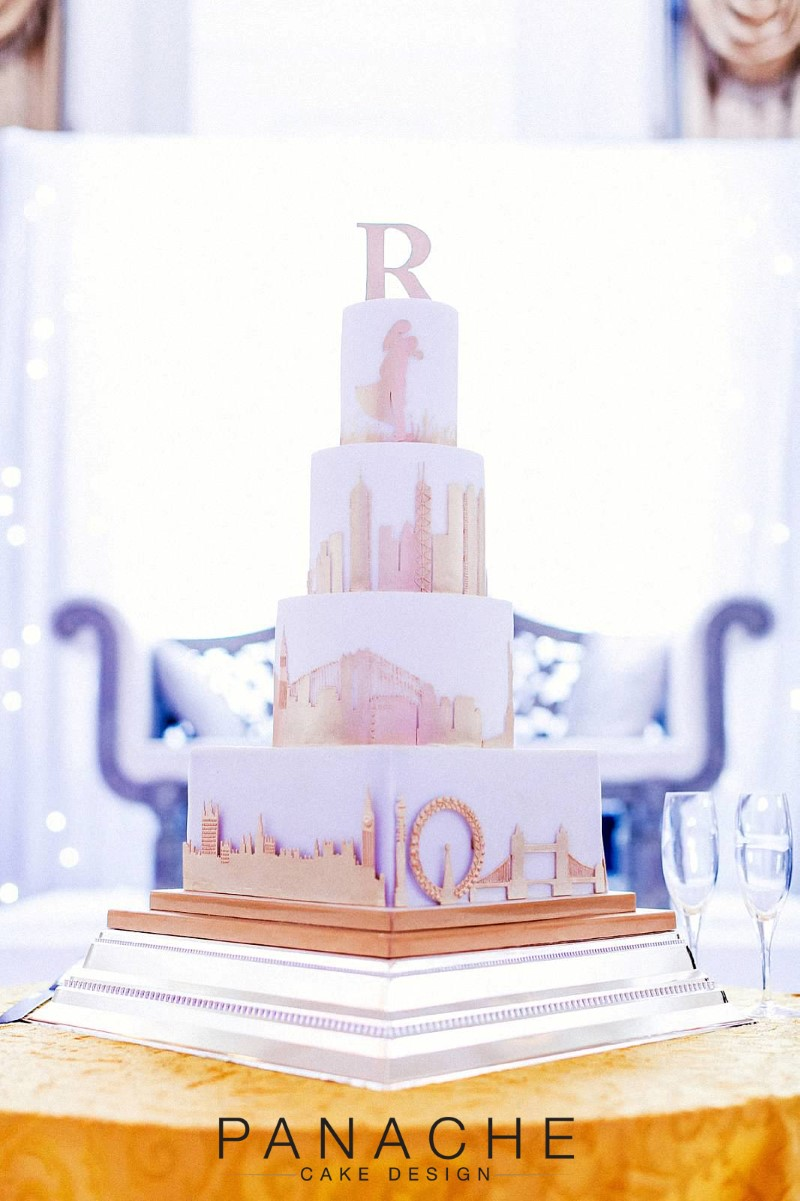 Understated and Sophisticated Skyline Cake